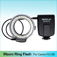 Wholesale Eos T4i - Meike FC-100 Macro Ring Flash Light for Canon EOS 600D 50D 60D 650D 70D 6D 450D 7D 550D 5D Mark II III 1100D T4i T3i T3