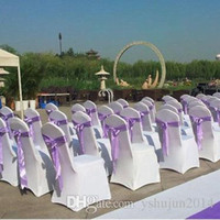 Wholesale banquet white spandex chair covers resale online - Thick Universal Elastic Wedding Party chair covers White spandex lycra chair cover for Wedding Party Banquet many color
