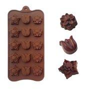 molde de tulipán al por mayor-Tulip Molde de pastel de silicona Molde de chocolate 15 celdas Gran calidad Bandeja de hielo Herramientas de torta Nivel de FDA