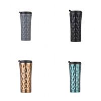 Wholesale Vacuum Pressing - Stainless Steel Coffee Cup Vacuum Thermal Mug Rhombus Creative Water Bottle Gift Multi Color 24 5kz C R