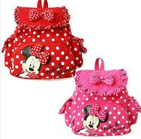 Wholesale Micky Baby - free shipping Small Minnie Micky Mouse Little Baby Children Girls Backpacks Cartoon School Bag for Kids,L0869
