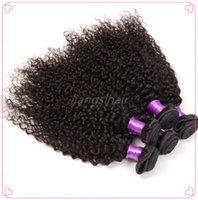 Wholesale Indian Spring Curly Hair - Brazilian Virgin Human Hair Extensions 7A Brazilian Peruvian Malaysian Indian Hair Bundles 5pcs lot Spring Curly Hair Weave