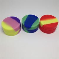 contenedor de aceite de silicona al por mayor-Caja de cera de silicona reutilizable de 5 ml Contenedor de silicona de envase de aceite de silicona antiadherente para atomizador de cera E-cig Tarros de silicona Contenedor de cera