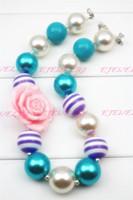 Wholesale Children Bubble Necklaces - Girls Chunky Necklace, Girls Bubblegum Chunky , Girls Chunky Bubble Gum Bead Necklace,Chunky Bead ,Children Necklace CB094