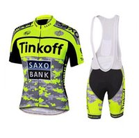 Wholesale saxo bank short sleeve jersey for sale - Group buy 2016 Tinkoff Saxo Bank Tour De France Team Cycling Jerseys Bicycle Wear Cycling Jersey Short Sleeve Cycling Tights with Bib Pants
