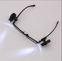 Wholesale Eyeglass Led - Wholesale Mini Universal Flexible Protect eyesight LED Eyeglass Clip-On Book Reading Light Reader Lamp For Glasses and Tools FREE SHIPPING