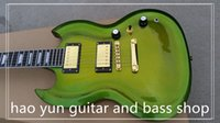 Wholesale Sg Guitar Green - sg guitar green gold dust electric guitar rose wood fingerboard china custom shop made popular in this year