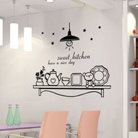 Wholesale Wall Art D - Sweet Kitchen have a nice day wall sticker decoration wall art murals