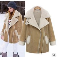 Wholesale Long Fur Coat Model - Christmas Gifts Women - European Grand Prix Women's winter new European and American women   explosion models suede lamb's wool coat