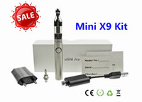 Wholesale Electronic Cigarette Strong Battery - 2015 Brand New Mini X9 Kit Electronic Cigarette Stainless Steel Battery Strong Metal Sense Protank Mini X9 E Cigs Box kit