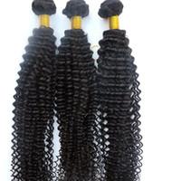 Wholesale 28 inch bulk hair weave online - Mink Virgin Hair Extensions Human Hair Weaves Kinky Curly Bundles Unprocessed Peruvian Indian Malaysian Mongolian Bulk Human Hair Wefts