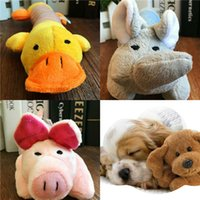 Pet Dog Chews Toys Long De quatro patas Animal Pig Elephant Duck Cartoon Style Plush Toy Voz Grinding Toys CYF17