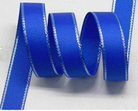 "Wholesale Glitter Grosgrain - Newest 1-1 2""38mm Solid Color Glitter Silver Edge Grosgrain Ribbon for Gift Boxes,Decorating Cards,Invitations,352#,100 Yards"