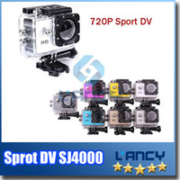 Wholesale OEM Mini SJCAM Sj4000 Sport DV Video Cameras HD Waterproof Action Camera P For Outdoor Activity Mini Camera Free DHL