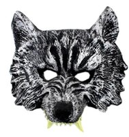 Wholesale Wolf Half Face Mask - Hot Sell Creepy Wolf Mask Head Halloween Costume Theater Prop Novelty Latex Rubber