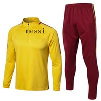 Wholesale Express Men Jacket - best quality 2017 2018 MESSI Football jacket tracksuit 17 18 MESSI Maillot de foot jacket chandal sportswear Training suit Express Free