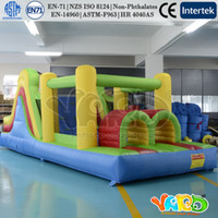 Wholesale YARD backyard family bounce house inflatable bouncer moonwalk obstacle course with blower