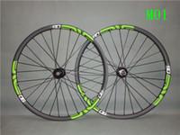 29er tekerlek seti karbon toptan satış-2018 yeni jantlar 29er karbon wheelsetler birçok renkler novatec 711-712 hub 28-32 delik mat / parlak bitmiş bisiklet parçaları
