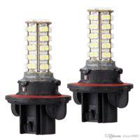 Wholesale Car Lamp H13 White - 2pcs Car H13 Fog Headlight Lamp Bulb 3528SMD White 68 LED Light 12V