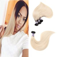 8A Peruvian Hair Bundles trama 1b 613 Color Body Wave y cabello humano recto teje extensiones de cabello rubio