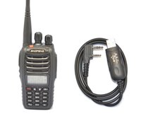 afia Telecomunicações Walkie Talkie 2016 New Black BAOFENG UV-B5 136-174MHz400-470 MHz TWO WAY Programa de rádio walkie-cabo CD Com ...