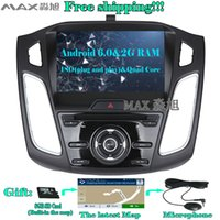 Wholesale Ford Focus Car Stereo - 2G+16G Android 6.0 Car DVD Player for Ford Focus 3 Focus 2012 2013 2014 2015 with Radio BT swc GPS map WIFI