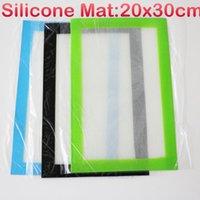 gummistock preis großhandel-Günstigen preis antihaft silikonmatte für wachsöl gummi silikonbehälter gläser silikonmatte mit individuellem druck silikon bho pad für ti nägel