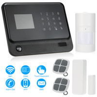 Sistema di allarme wireless WIFI + GSM Display LCD Touch tastiera Supporto Android / IOS Phone APP Controllo SIM Card Security System