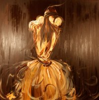 Wholesale Evening Drew - Oil Painting Abstract Portrait Lady in Evening Gown 100% Hand Painted(no Frameless draw)