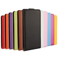 Wholesale Doormoon Case - Plain Weave Flip Doormoon Real Leather Case For Sony Xperia Z4 50pcs 2015 New 11 Colors