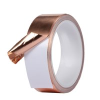Wholesale Snail Tape - Wholesale- 1roll 30mm x10M Adhesive Single Face Electric Conduction copper aluminium foil tape EMI Shielding Guitar Slug Snail Barrier