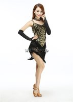 Wholesale Dress Women S Sequin Black - 1920's tassel flapper theater dance dresses costumes wear clothes white antique sparkly beading deep v neck gold black blue red cheap