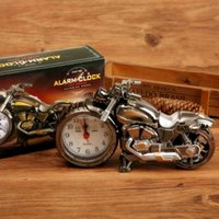 Wholesale Home 3gs - Fashion Retro Alarm Clocks Motorcycle Shape Pointer Clocks Durable Plastic Timepiece For Home Decor Hot Sale 5 3gs B R