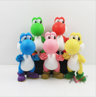 Wholesale toys children mario bros online - Super Mario Bros Yoshi Color Loong toys EMS Free new children PVC Super Mario Bros cm Animation game series toy B001