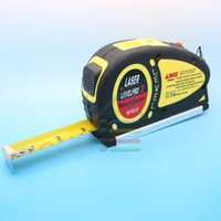 Wholesale Ft Measures - Wholesale-New 18 FT 5.5m Measure Tape Measuring Tools Laser Level Leveler Horizontal Vertical Line Ruler Aligner