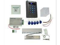 bloqueio magnético rfid venda por atacado-Tomada de fábrica Leitor de ID RFID + Keyfob Kit de Controle de Acesso Elétrico Strike Door Lock Fechadura Magnética