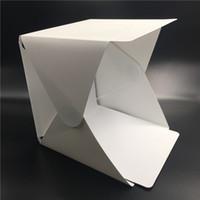 фотография с мягким освещением оптовых-Портативный складной лайтбокс фотостудия Softbox LED Light Soft Box для iPhone Samsang HTC DSLR камера фото фон