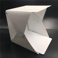 foto falten großhandel-Tragbare faltbare Lightbox Fotografie Studio Softbox LED-Licht Softbox für iPhone Samsang HTC DSLR Kamera Foto Hintergrund