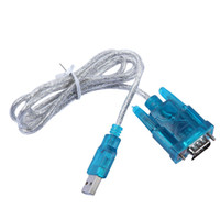 Wholesale Adapter Usb Com - HL-340 USB 2.0 to RS232 COM Port Serial PDA 9 pin DB9 Cable Adapter Support Windows XP Windows7 10 32 64 bit + CD Drive