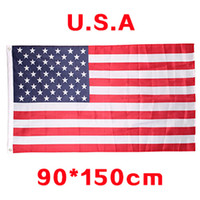 Wholesale Cheap Usa Flags - USA US American flag Polyester Flag 5*3 FT 150*90 CM High Quality Cheap Price Have Many Stock