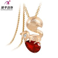 Wholesale Xuping Gold Filled Necklace - Xuping genuine gold-plated long necklace Korea Zircon sweater chain necklace female Korean fashion wild squirrels