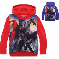 Wholesale Kids Spiderman Sweaters - Kids Cartoon Hoodies Spiderman Children Boys Jackets Hoodies Sweatshirt Girls Winter Coat Kids Sweater wb kids Christmas Clothing 2 Colors