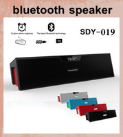 Wholesale Portable Stereo Amplifier - SDY-019 HIFI Portable Bluetooth Speaker 10w FM Radio wireless USb Amplifier Stereo mini speaker box with mic dhl free shipping MIS065