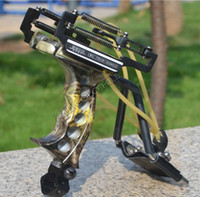 Wholesale Slingshot Shooting - Judge G3 Slingshot Hunting Powerful Catapult Camouflage Stainless Steel Hunter Aluminium Alloy Sling Shot With Clamp