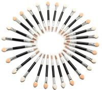 Wholesale disposable eyeshadow brushes - New 50 Pcs  set Applicator Double-Ended Cosmetic Brushes Women Makeup Eyeshadow Eyeliner Sponge Lip Brush Set Disposable