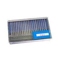 "Wholesale Tungsten Carbide Cutter Wholesalers - Professional Dental Supplies 20Pcs Tungsten Carbide Rotary Burr SET 1 8"" 3.175MM Shank Milling Cutter Reamer 3*3mm"