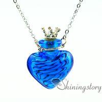 Wholesale Heart Vial Pendant - heart aromatherapy pendants wholesale essential oil necklace diffuser oil diffuser jewelry necklace vial essential oil pendant
