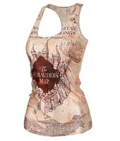 Wholesale Harry Potter Sexy - Drop Shipping New Ladies women crop tops Camisole Sexy top Printed women's clothing Harry potter print tank top Women Clothing