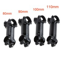 Wholesale Cycling Handlebars Stem Carbon - 80 90 100 110mm Bicycle Stem Cycling Road Bicycle MTB Bike Aluminium Alloy + Carbon Fiber Handlebar Stem Y0578