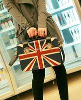 Wholesale British Flag Bags - women's handbag british style torx flag bag vintage messenger bag one shoulder cross-body handbag shaping